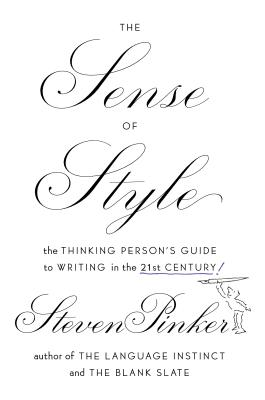 The Sense of Style By Pinker, Steven
